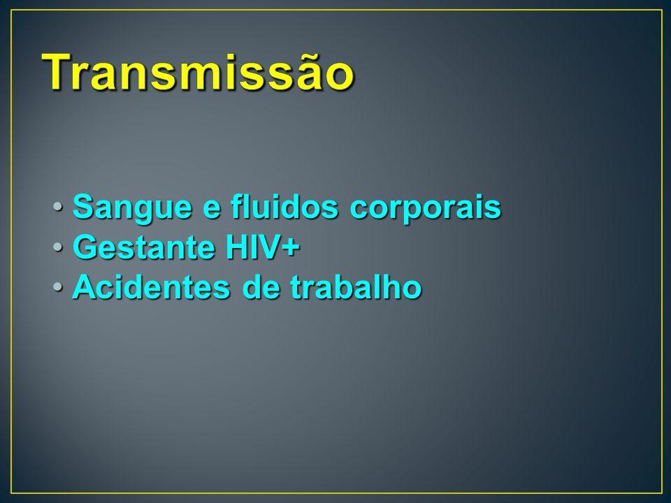 Sangue e fluidos corporaisSangue e fluidos corporais Gestante HIV+Gestante HIV+ Acidentes de trabalhoAcidentes de trabalho