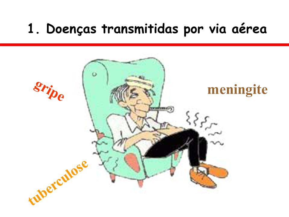 1. Doenças transmitidas por via aérea gripe meningite tuberculose