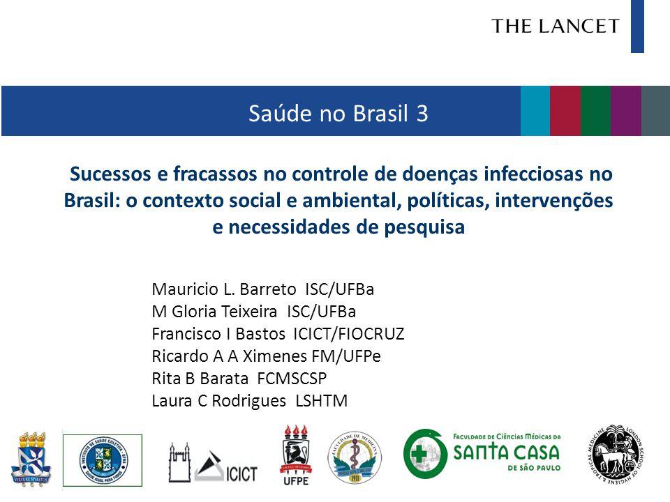 Saúde no Brasil 3 Sucessos e fracassos no controle de doenças infecciosas no Brasil: o contexto social e ambiental, políticas, intervenções e necessid