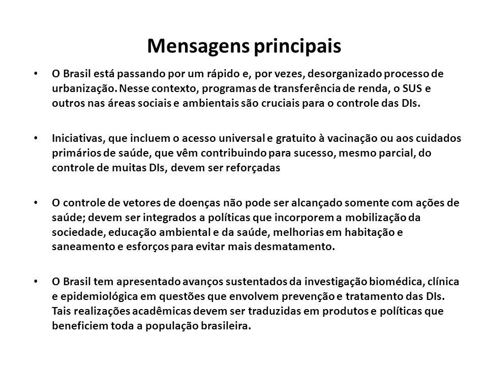 Mensagens principais O Brasil está passando por um rápido e, por vezes, desorganizado processo de urbanização. Nesse contexto, programas de transferên