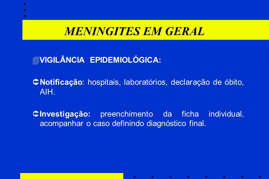  VIGILÂNCIA EPIDEMIOLÓGICA:  Notificação: hospitais, laboratórios, declaração de óbito, AIH.  Investigação: preenchimento da ficha individual, acom