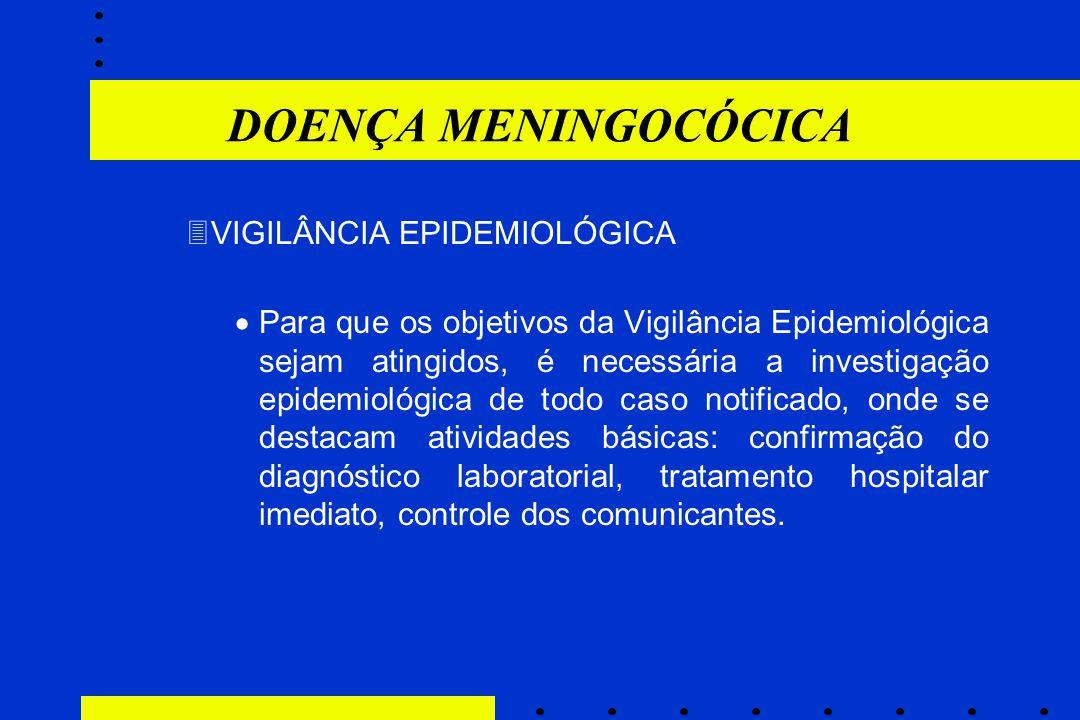 3VIGILÂNCIA EPIDEMIOLÓGICA  Para que os objetivos da Vigilância Epidemiológica sejam atingidos, é necessária a investigação epidemiológica de todo ca
