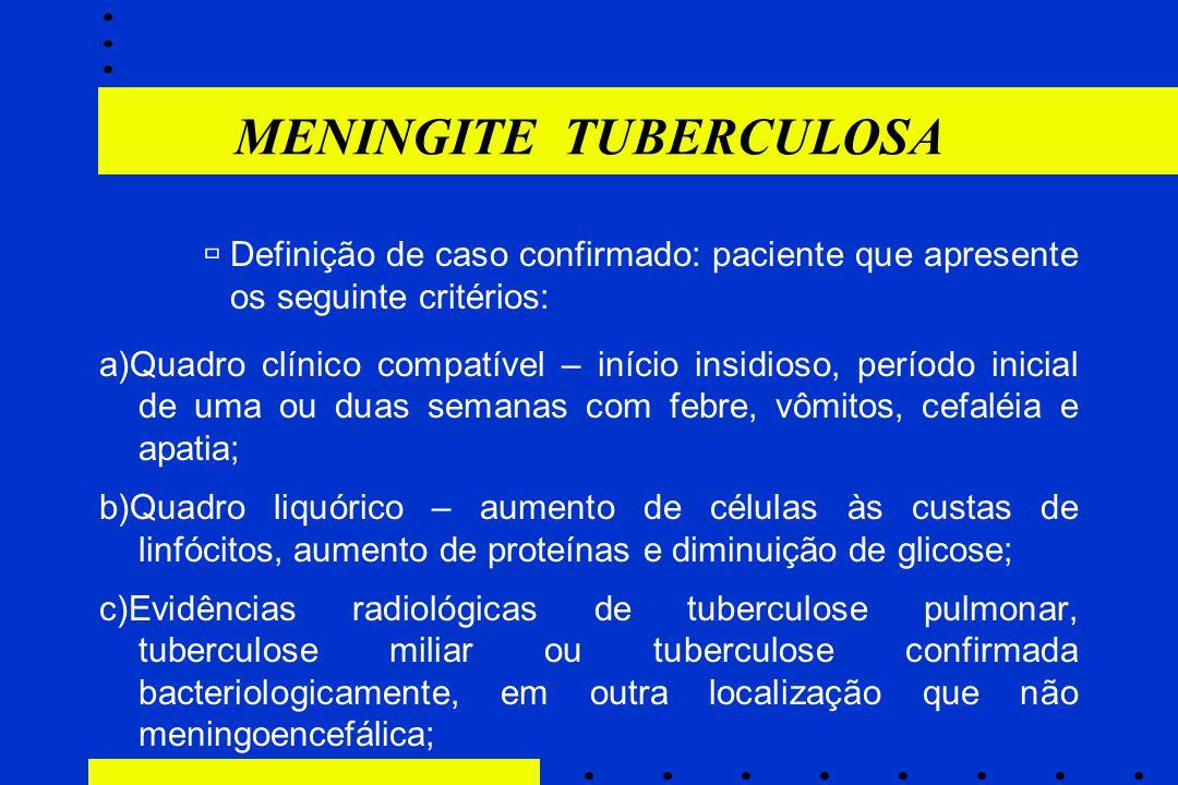 ùDefinição de caso confirmado: paciente que apresente os seguinte critérios: a)Quadro clínico compatível – início insidioso, período inicial de uma ou