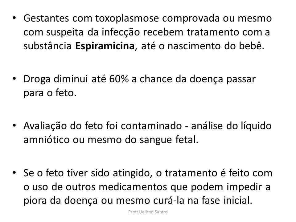 Gestantes com toxoplasmose comprovada ou mesmo com suspeita da infecção recebem tratamento com a substância Espiramicina, até o nascimento do bebê. Dr