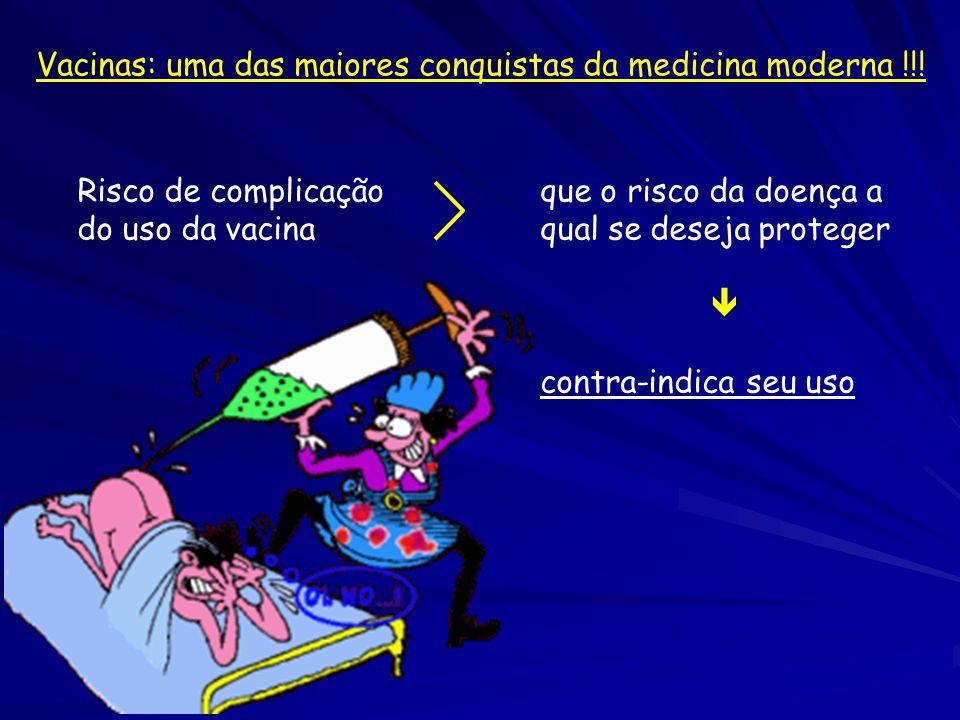 Risco de complicaçãoque o risco da doença a do uso da vacinaqual se deseja proteger  contra-indica seu uso Vacinas: uma das maiores conquistas da med