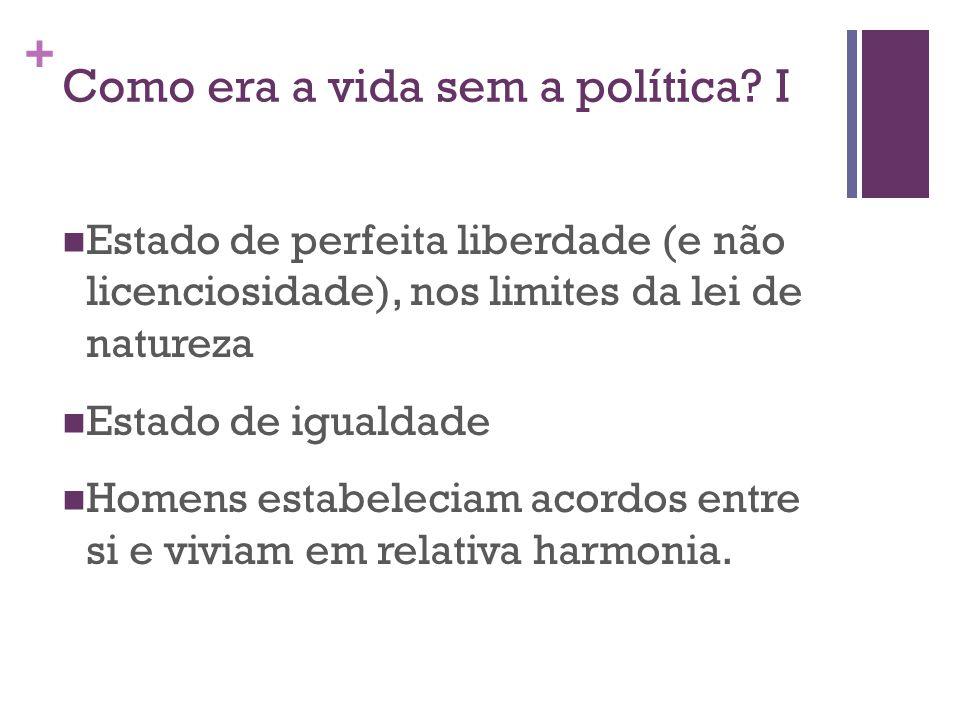 + Como era a vida sem a política.