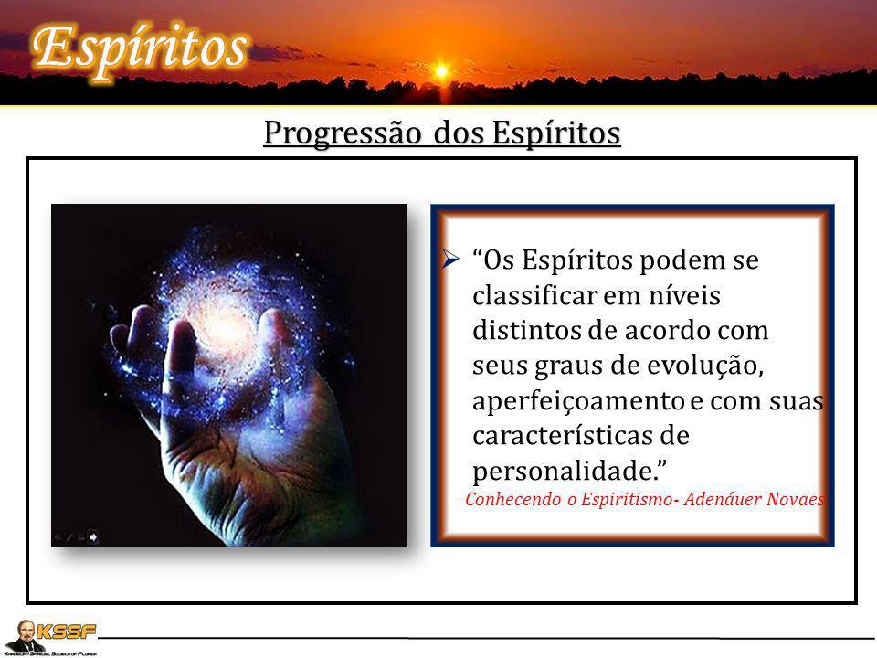 """Progressão dos Espíritos  """" Deus criou todos os Espíritos simples e ignorantes, isto é, sem nenhum saber, no entanto, sujeitos ao progresso"""" L.E.  """""""