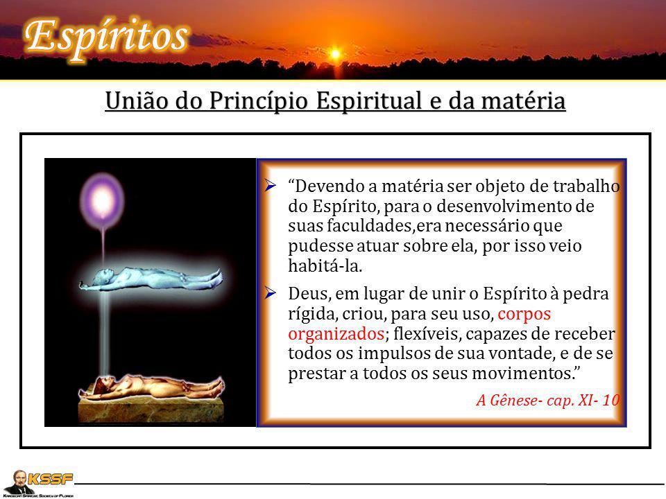 """União do Princípio Espiritual e da matéria  """"Devendo a matéria ser objeto de trabalho do Espírito, para o desenvolvimento de suas faculdades,era nece"""