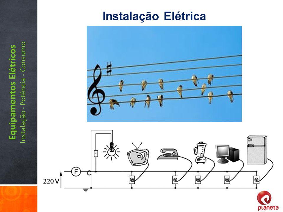 Equipamentos Elétricos Instalação - Potência - Consumo Instalação Elétrica
