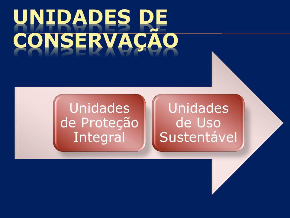 Unidades de Proteção Integral Unidades de Uso Sustentável