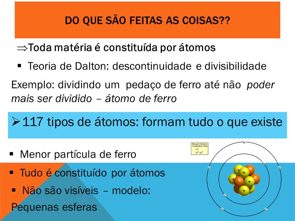 DO QUE SÃO FEITAS AS COISAS?.