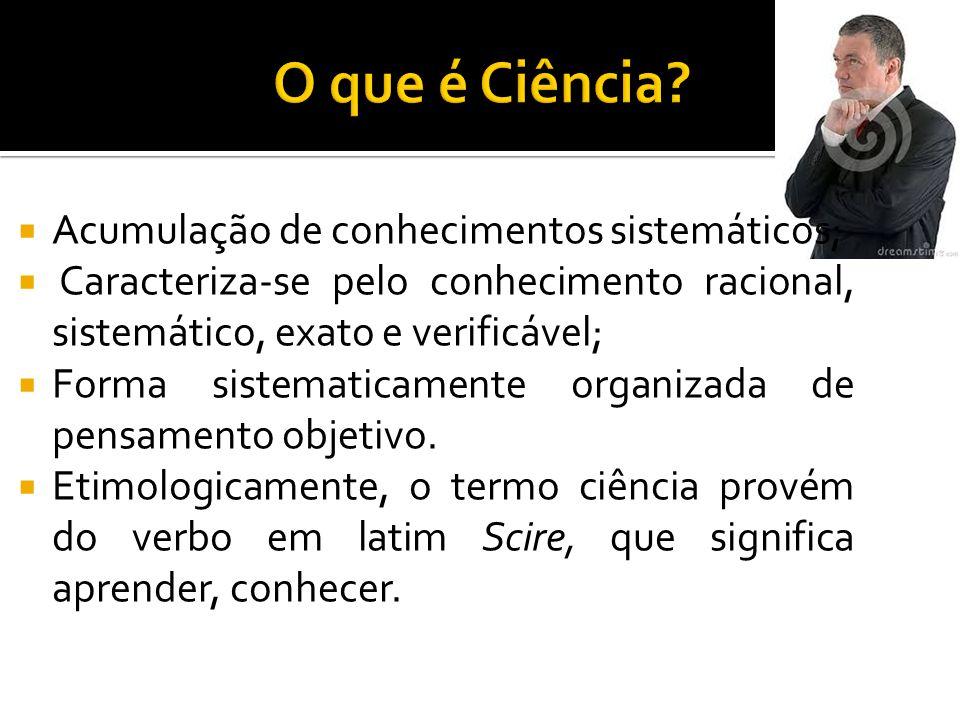  A Pesquisa Científica visa a conhecer cientificamente um ou mais aspectos de determinado assunto.