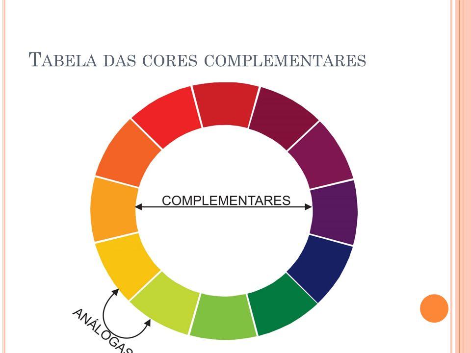 T ABELA DAS CORES COMPLEMENTARES