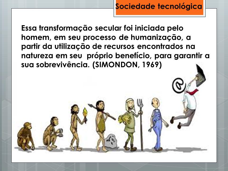 Essa transformação secular foi iniciada pelo homem, em seu processo de humanização, a partir da utilização de recursos encontrados na natureza em seu