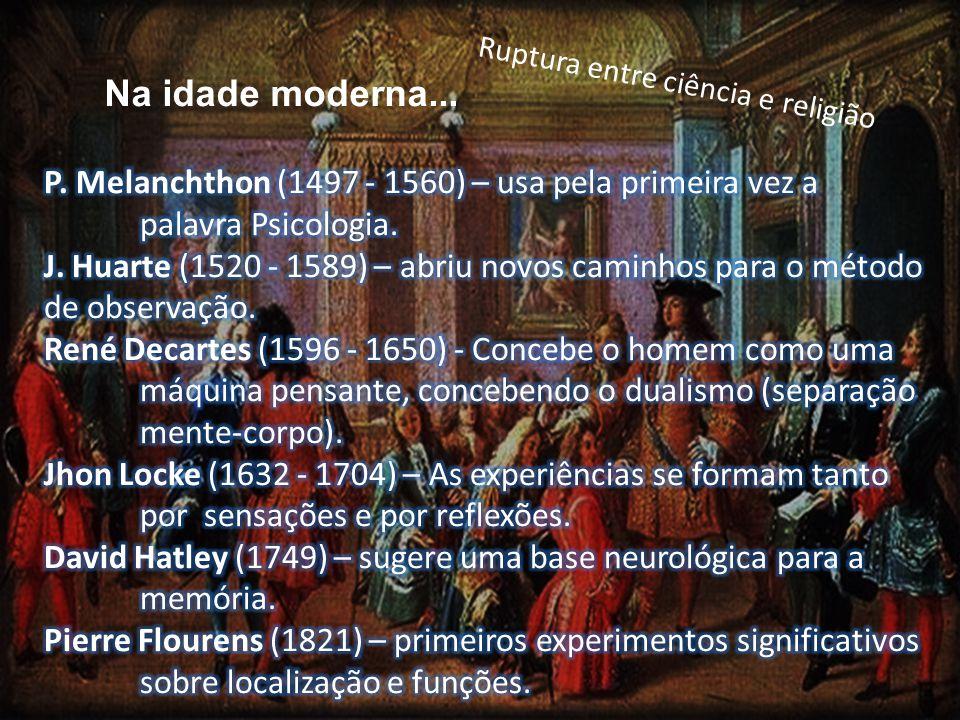 Na idade moderna... Ruptura entre ciência e religião