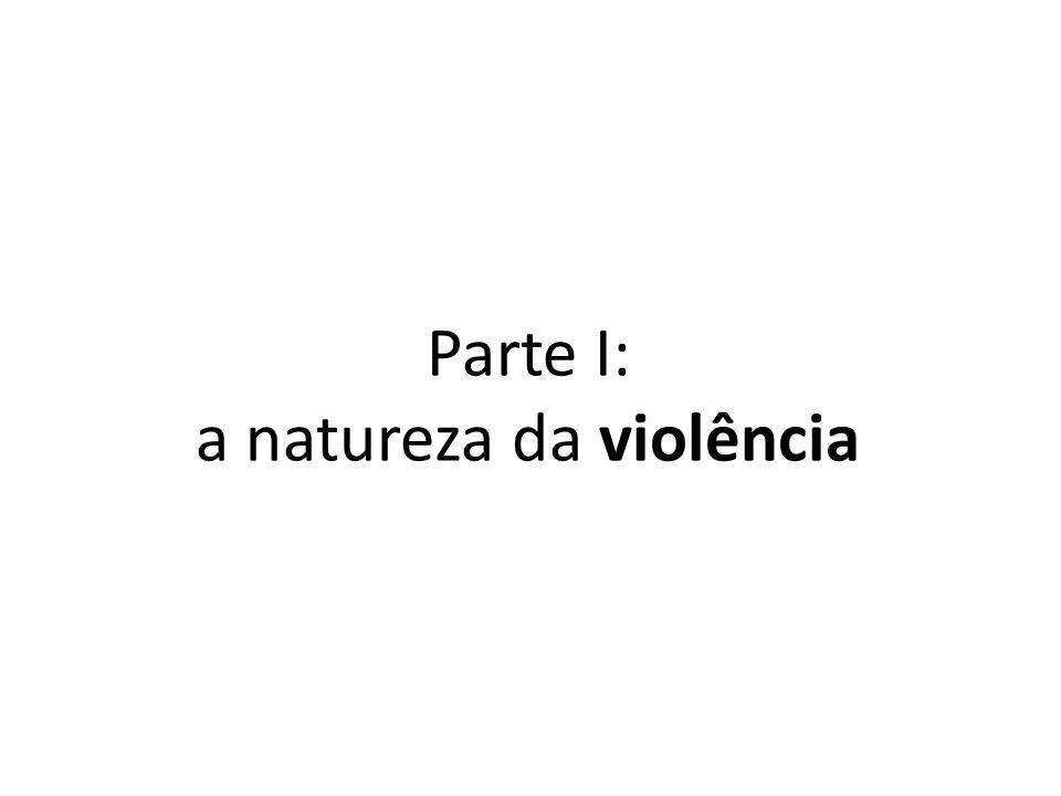 Parte I: a natureza da violência