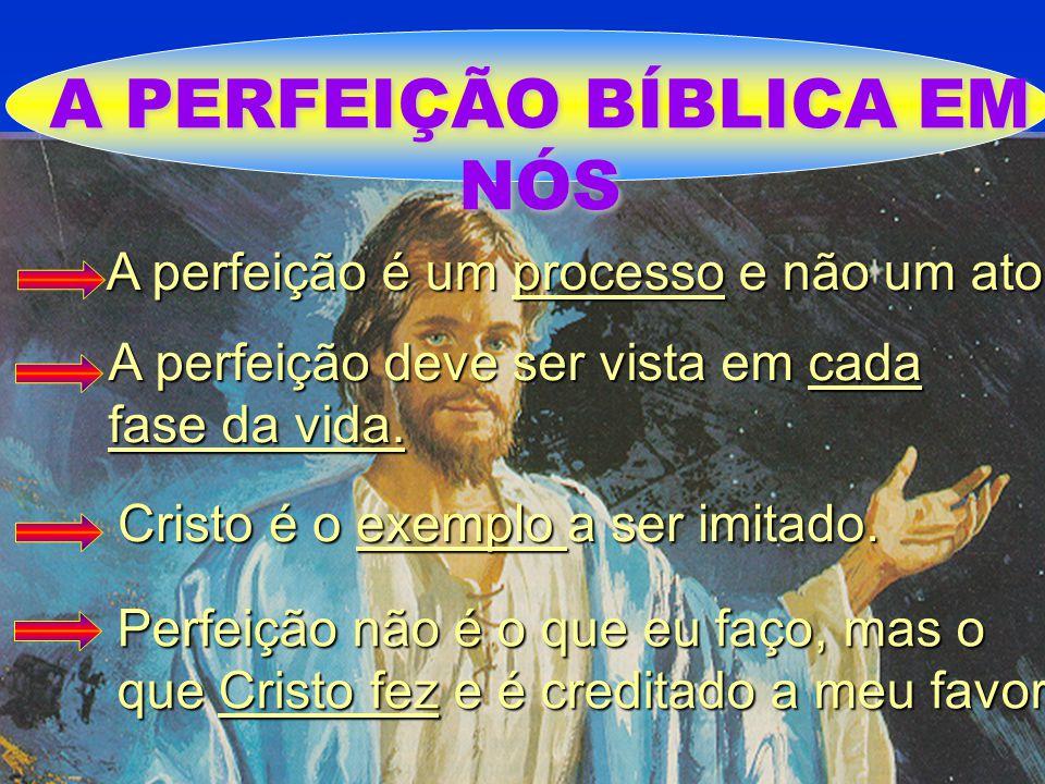 A PERFEIÇÃO BÍBLICA EM NÓS A perfeição é um processo e não um ato A perfeição é um processo e não um ato A perfeição deve ser vista em cada fase da vi