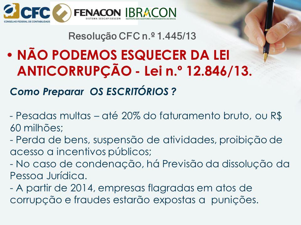 Resolução CFC n.º 1.445/13 Como Preparar OS ESCRITÓRIOS .
