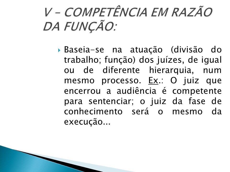  COMPETÊNCIA EM RAZÃO DO VALOR: Critério do valor econômico da demanda.