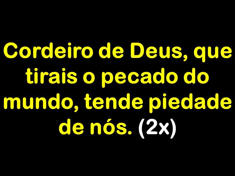 Cordeiro de Deus, que tirais o pecado do mundo, tende piedade de nós. (2x)