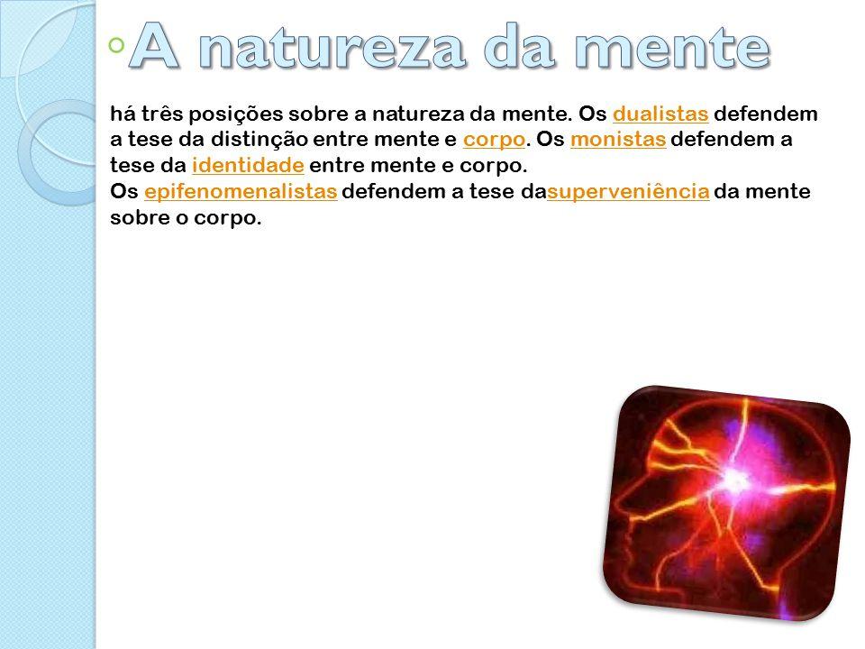 há três posições sobre a natureza da mente.