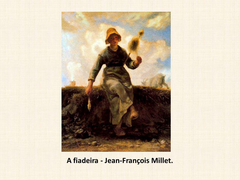 A fiadeira - Jean-François Millet.