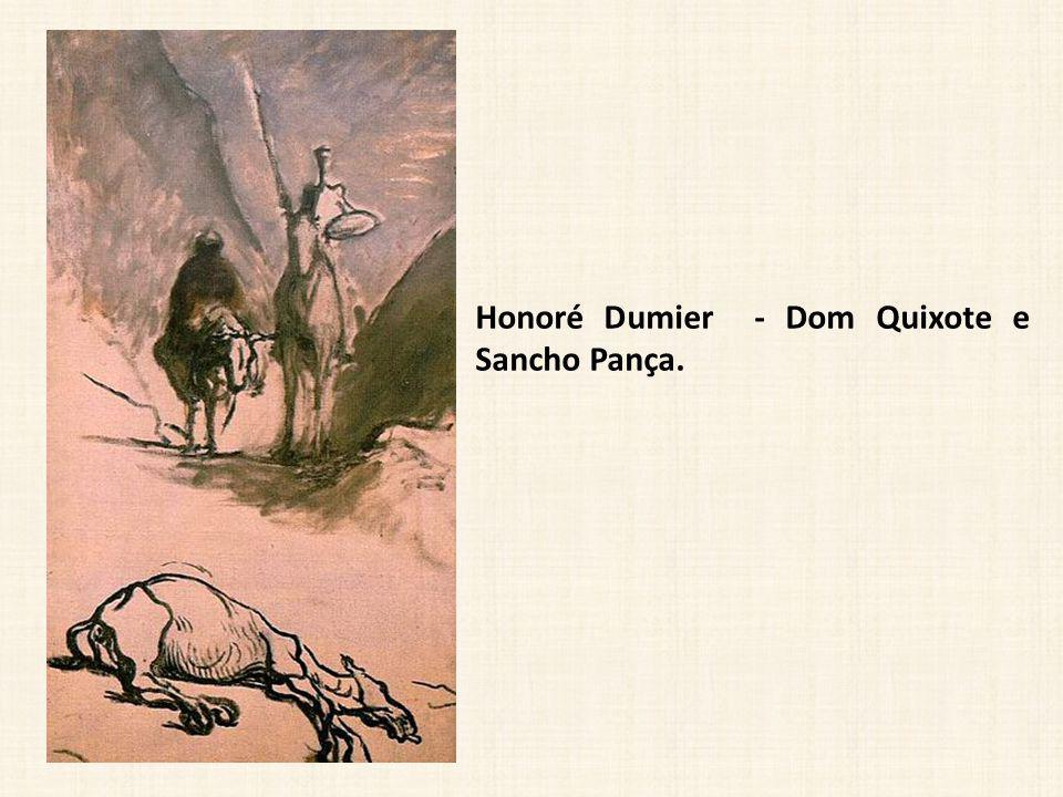 Honoré Dumier - Dom Quixote e Sancho Pança.