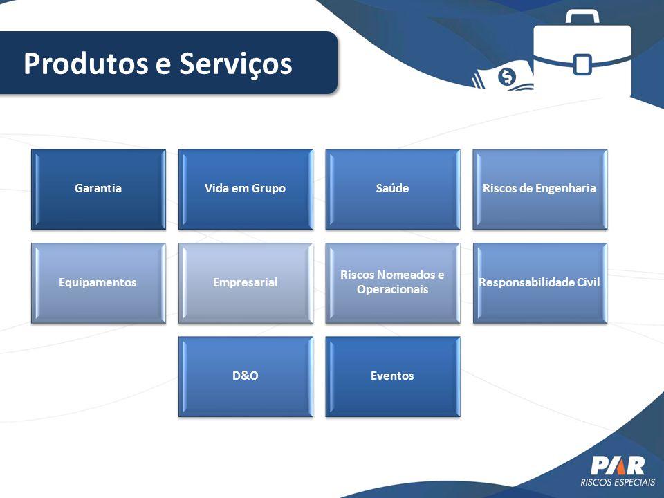 GarantiaVida em GrupoSaúdeRiscos de Engenharia EquipamentosEmpresarial Riscos Nomeados e Operacionais Responsabilidade Civil D&OEventos Produtos e Ser