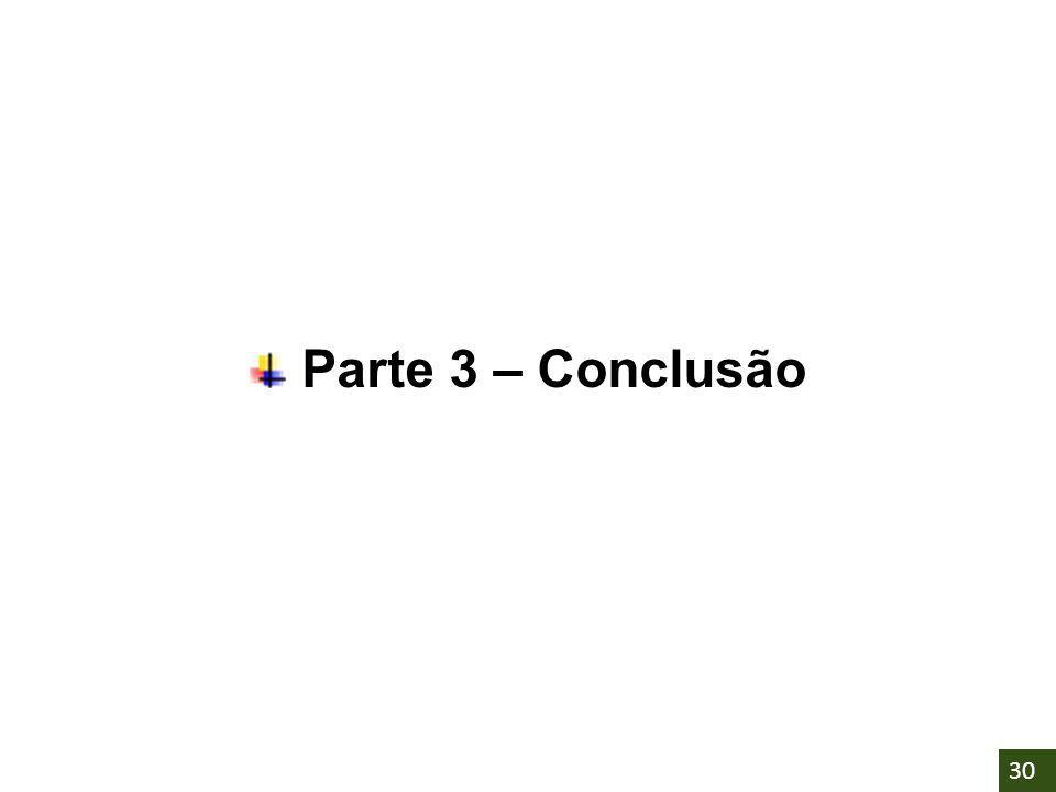 Parte 3 – Conclusão 30