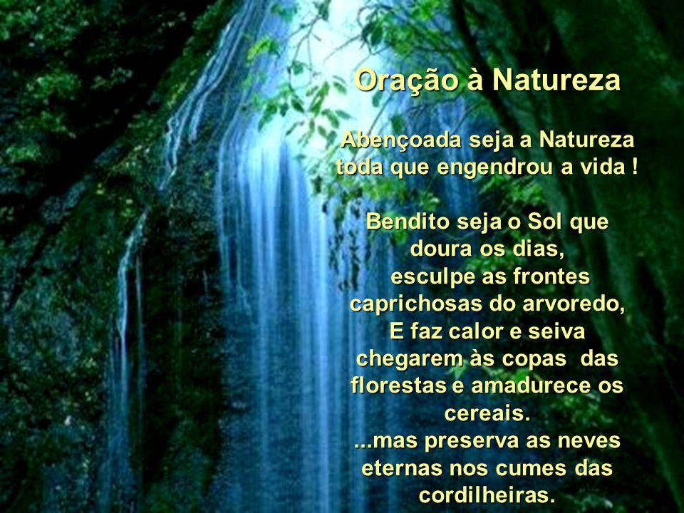 Oração à Natureza Abençoada seja a Natureza toda que engendrou a vida .
