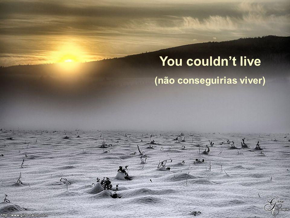 You couldn't live (não conseguirias viver)