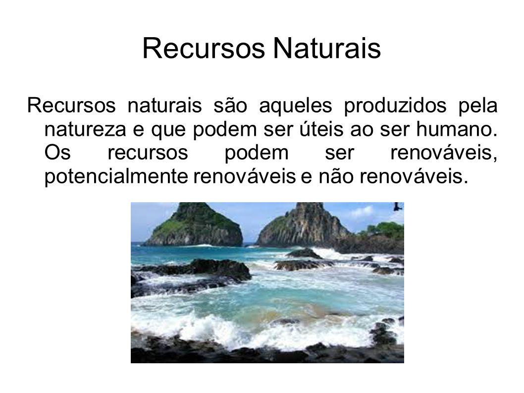 Recursos Potencialmente Renováveis São recursos naturais que têm sua capacidade de renovação limitada e podem acabar em razão do uso excessivo e e não sustentável.
