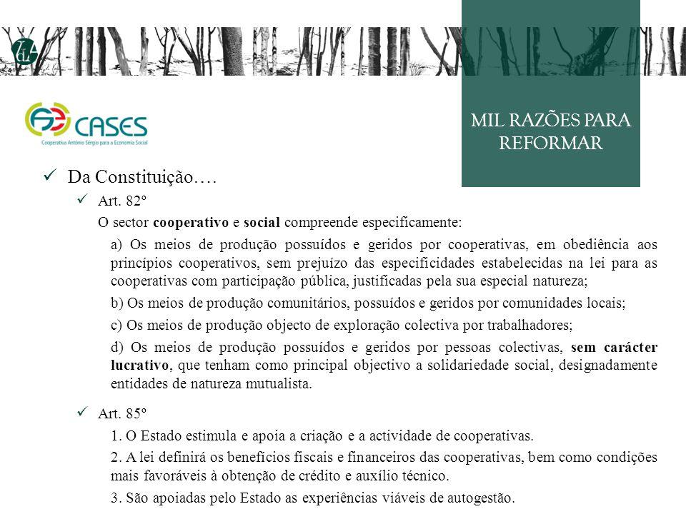 MIL RAZÕES PARA REFORMAR Da Constituição….Art.