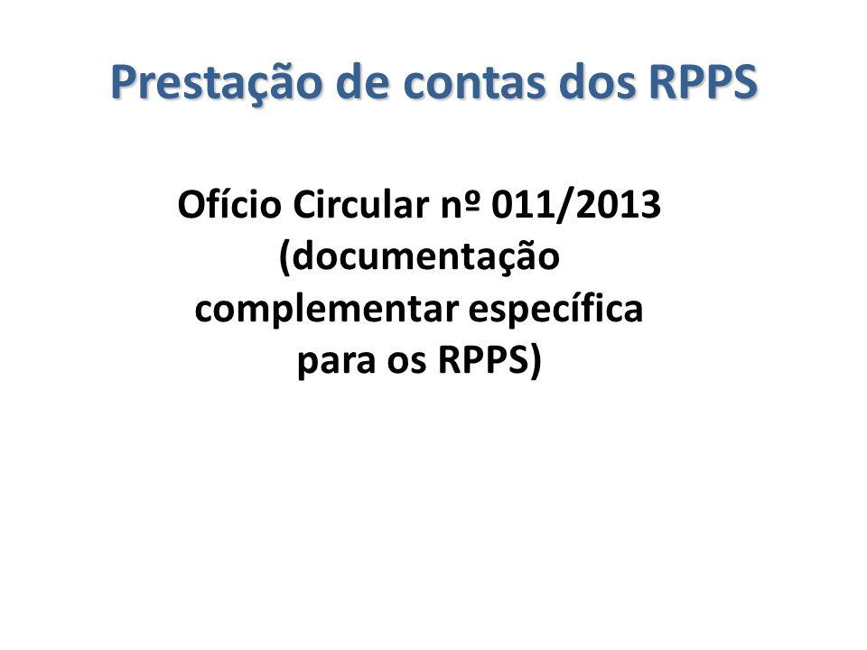 Ofício Circular nº 011/2013 (documentação complementar específica para os RPPS)