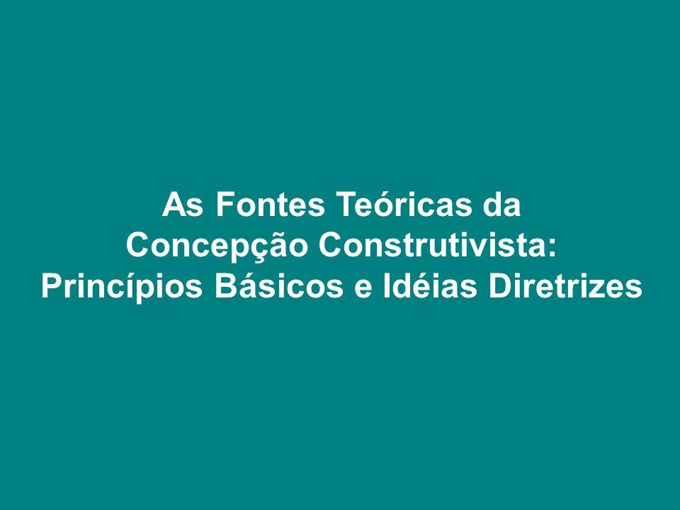 As Fontes Teóricas da Concepção Construtivista: Princípios Básicos e Idéias Diretrizes