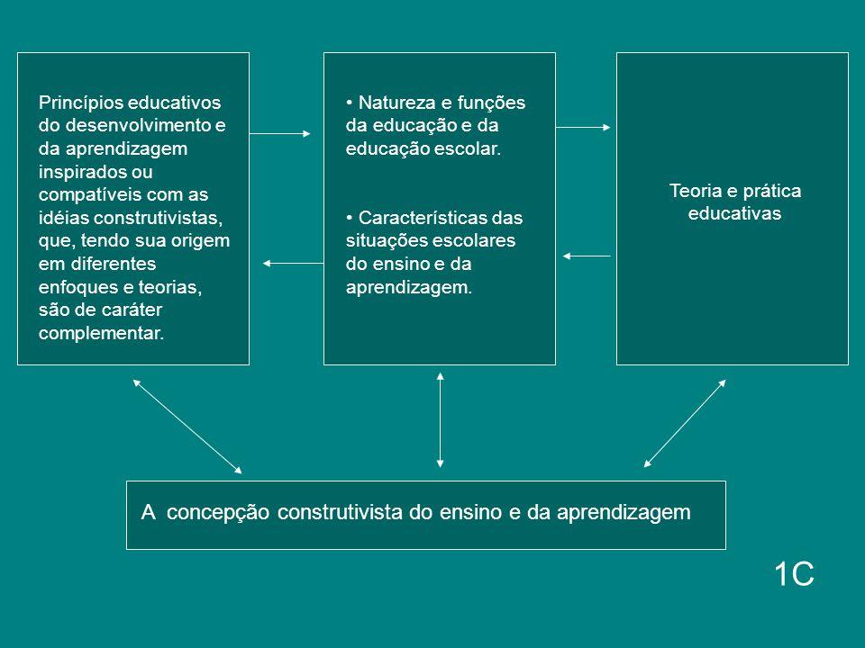 Princípios educativos do desenvolvimento e da aprendizagem inspirados ou compatíveis com as idéias construtivistas, que, tendo sua origem em diferente