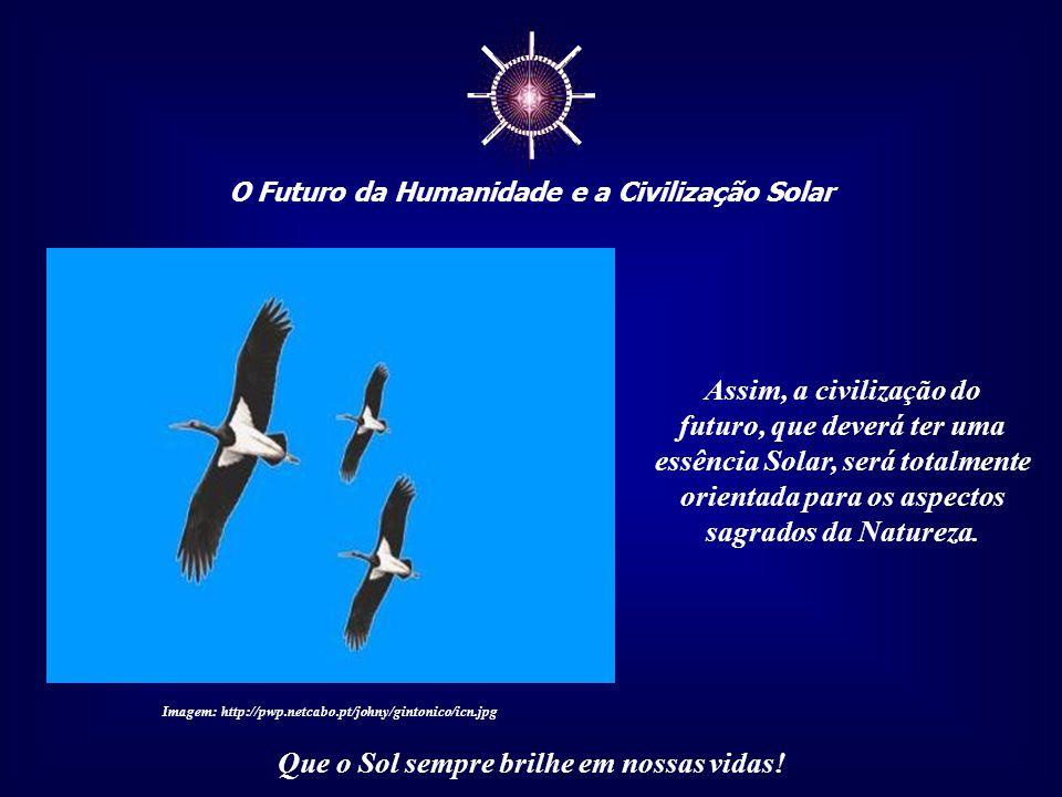 ☼ O Futuro da Humanidade e a Civilização Solar Que o Sol sempre brilhe em nossas vidas! Quando conseguirmos, como civilização, perceber a presença do