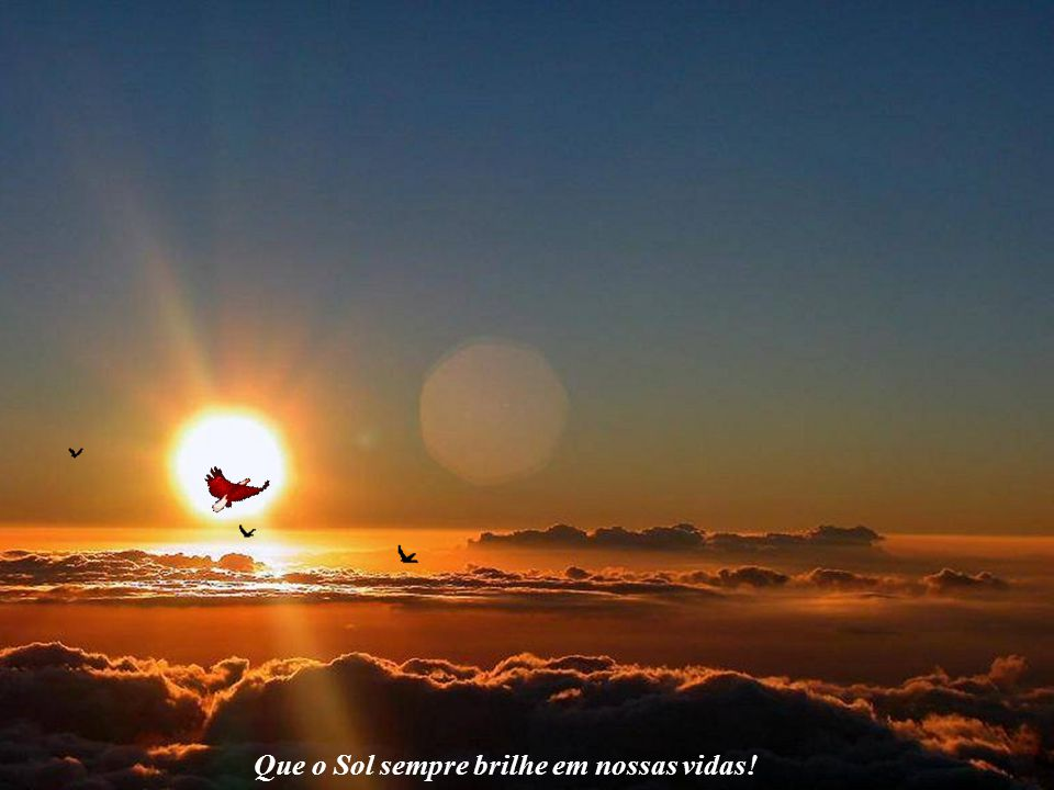 ☼ O Futuro da Humanidade e a Civilização Solar Que o Sol sempre brilhe em nossas vidas! Observe a águia voando. Sinta a sua liberda- de em meio a um c
