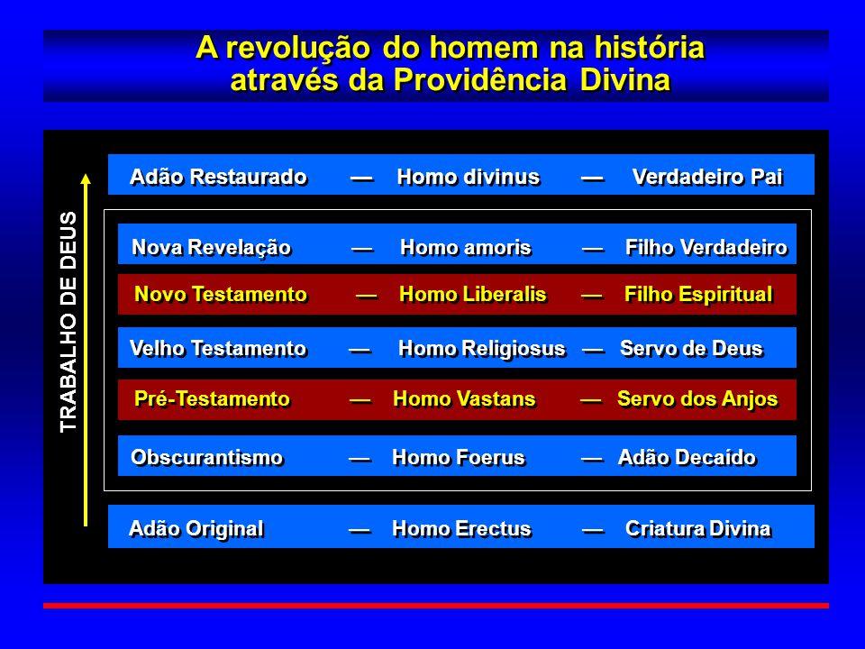 A revolução do homem na história através da Providência Divina A revolução do homem na história através da Providência Divina TRABALHO DE DEUS Adão Or