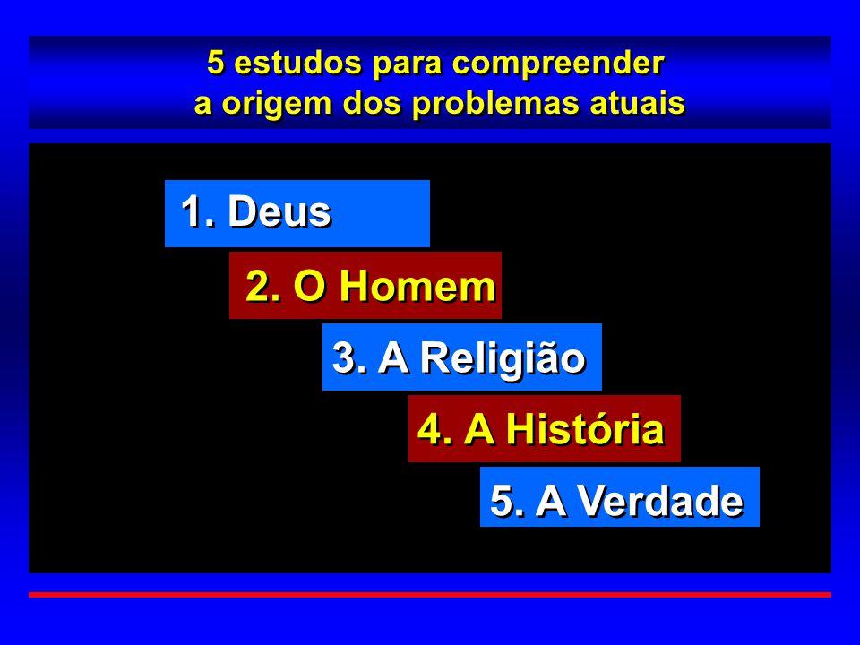 5 estudos para compreender a origem dos problemas atuais 5 estudos para compreender a origem dos problemas atuais 1. Deus 2. O Homem 3. A Religião 4.