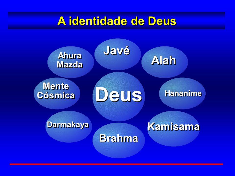 0 A identidade de Deus Deus Mente Cósmica Mente Cósmica Darmakaya Javé Brahma Alah Kamisama Hananime Ahura Mazda Ahura Mazda
