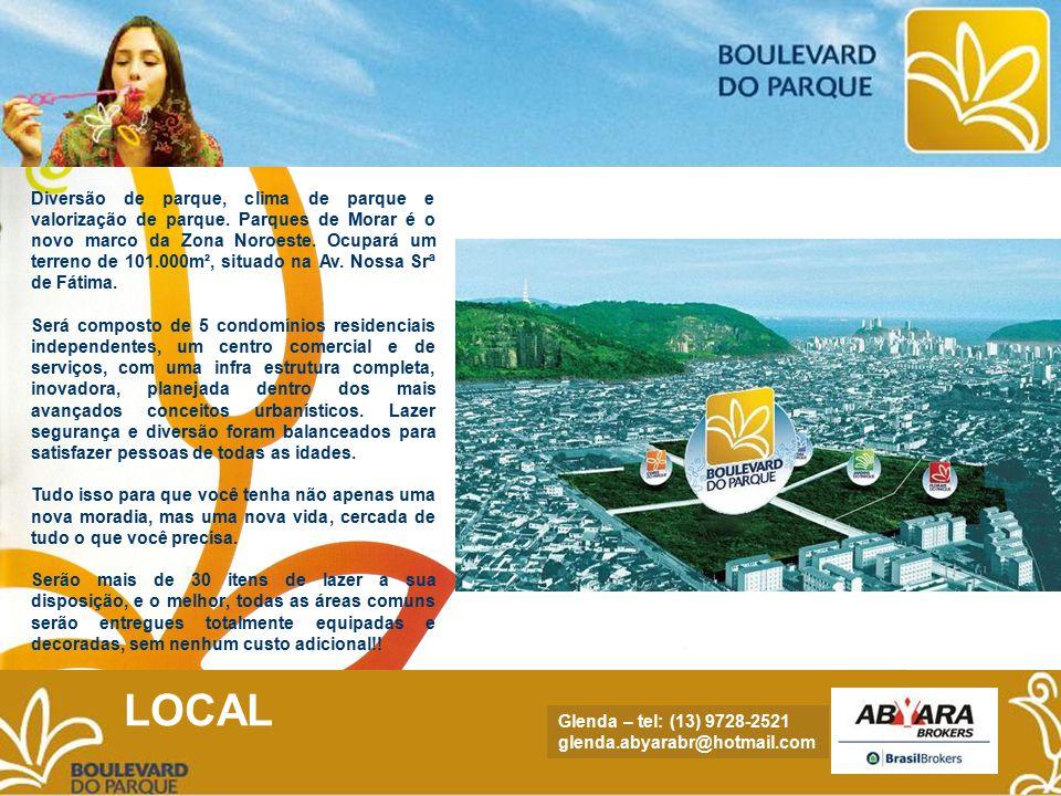 NADYA - tel.: (13) 9705.4169 nadya.abyara@hotmail.com Conheça alguns dos diferenciais: - A Zona Noroeste é o novo eixo de valorização residencial da Baixada Santista.