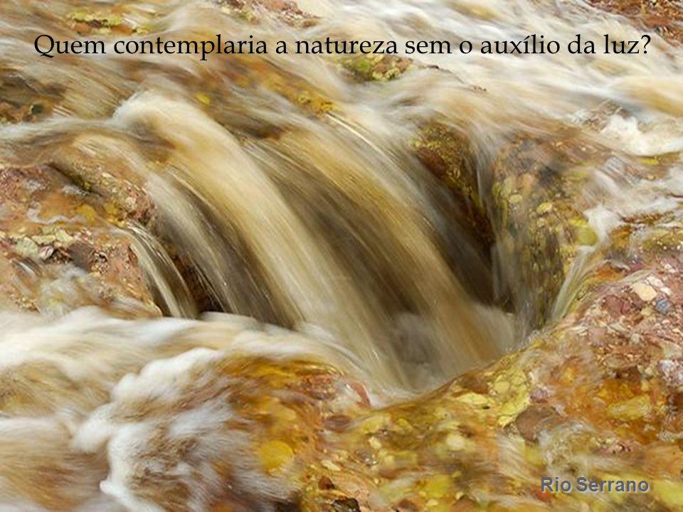 Rio Serrano Quem contemplaria a natureza sem o auxílio da luz?