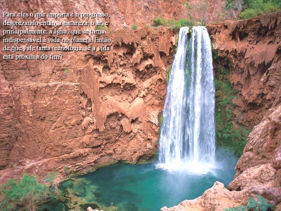 Penso que a água é apenas mais um alvo do péssimo uso e distribuição dos grandes empresários, grandes industriais, grandes, grandes, e grandes...