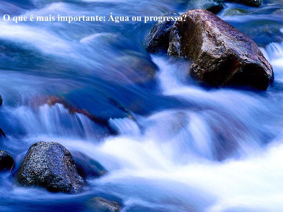O que é mais importante: Água ou progresso?