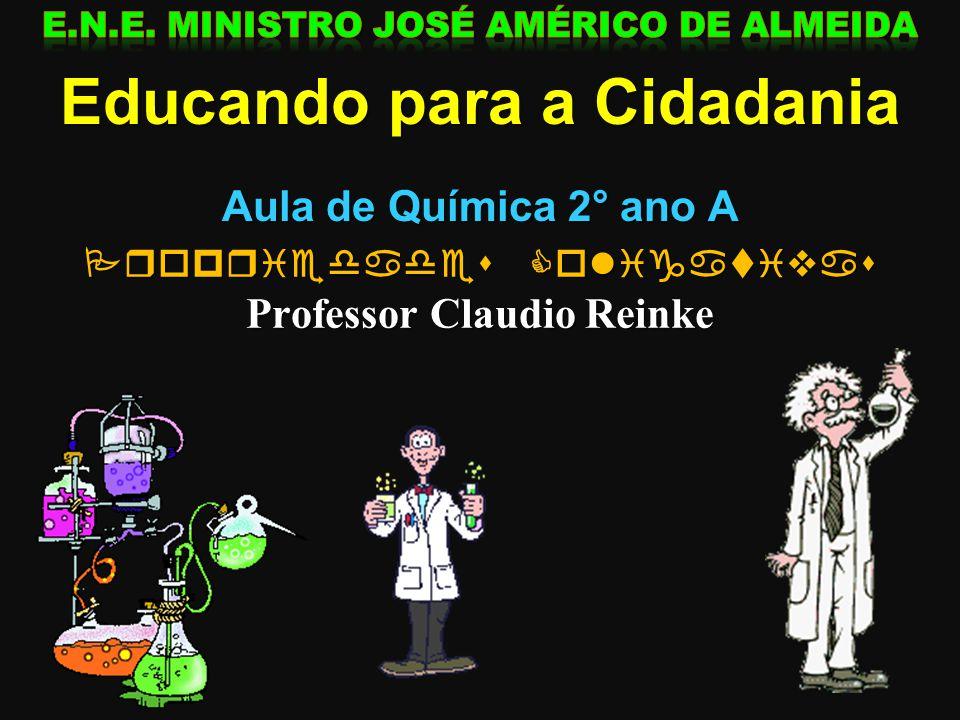 PROPRIEDADES COLIGATIVAS Prof. Claudio Reinke QUÍMICA 2º ANO Aspectos Qualitativos