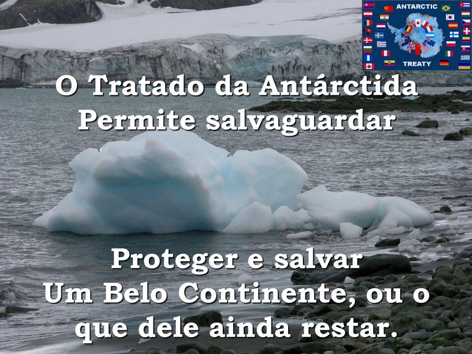 O Tratado da Antárctida Permite salvaguardar Proteger e salvar Um Belo Continente, ou o que dele ainda restar.