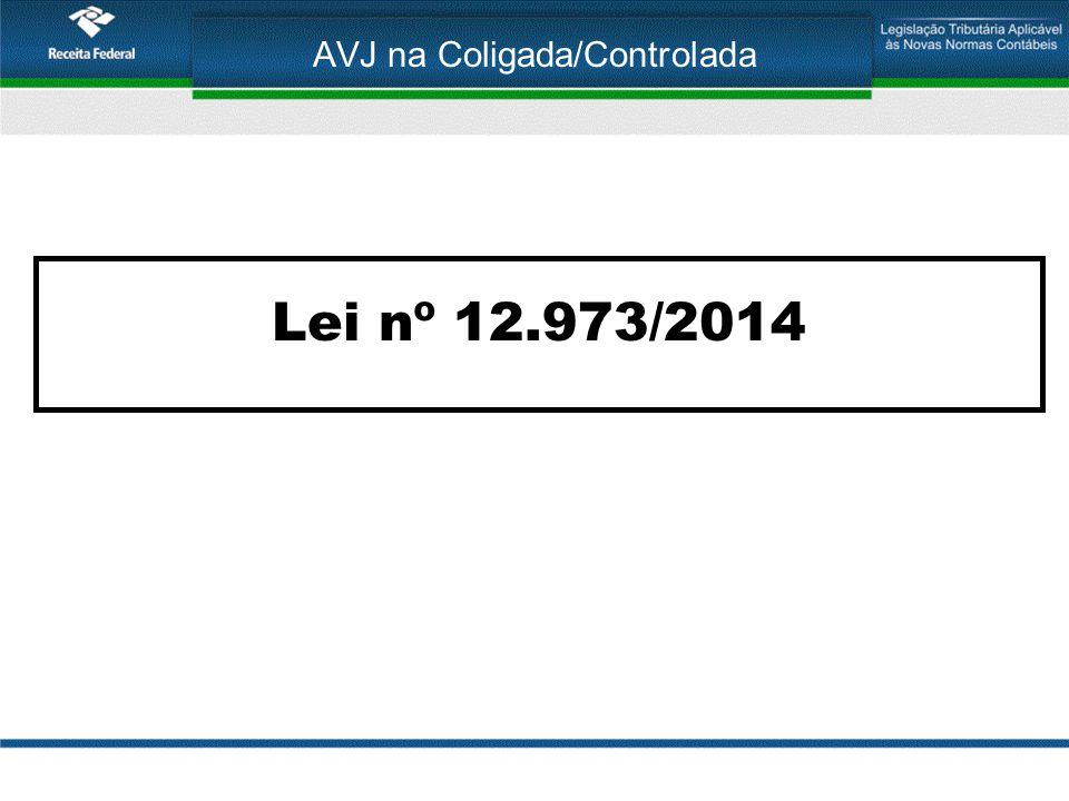 AVJ na Coligada/Controlada Lei nº 12.973/2014