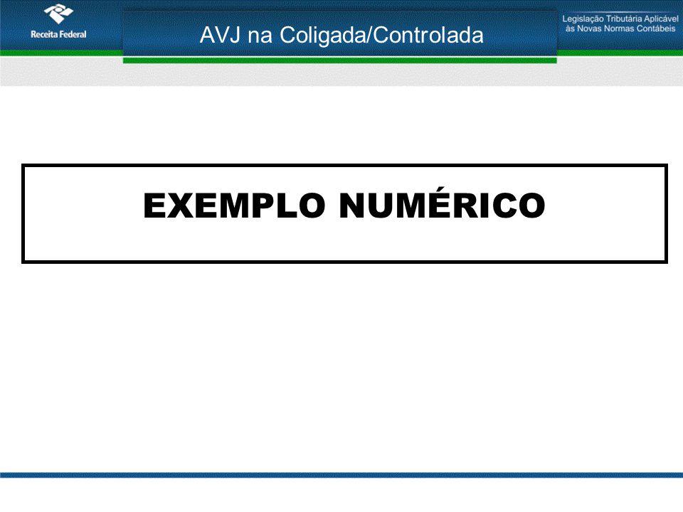 AVJ na Coligada/Controlada EXEMPLO NUMÉRICO