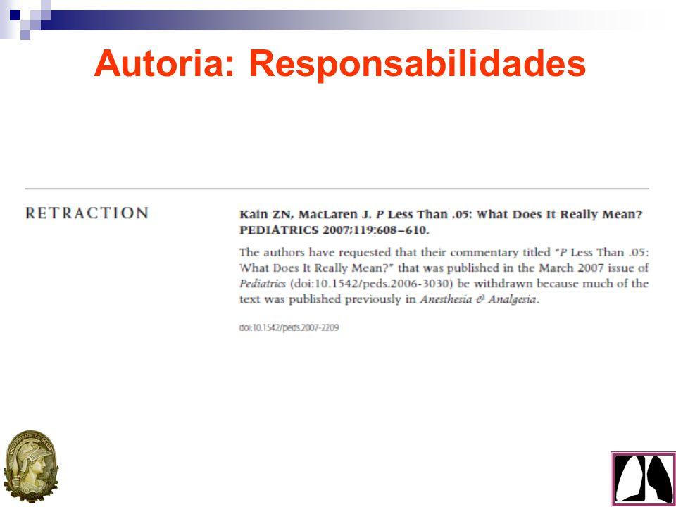 Autoria: Responsabilidades